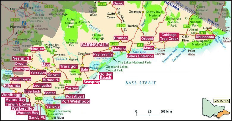Image result for Gippsland Map