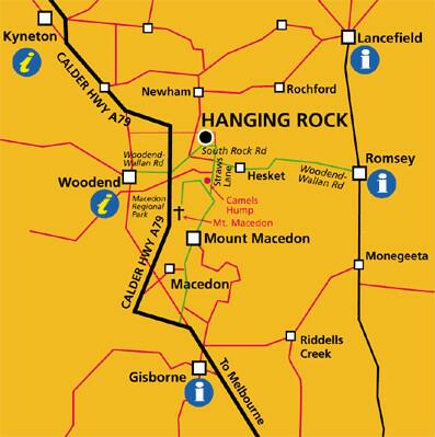 Map of Macedon Ranges