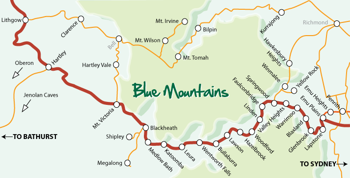 Blue Mountains Map